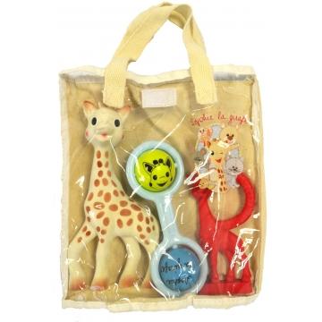 Sophie de giraf, rammelaar blauw, rode bijtring