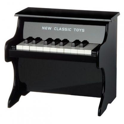 new classic toys piano hout voor kinderen zwart
