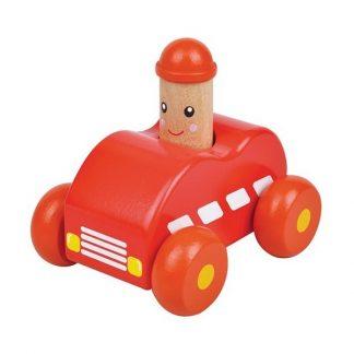 Squeaky-auto rood