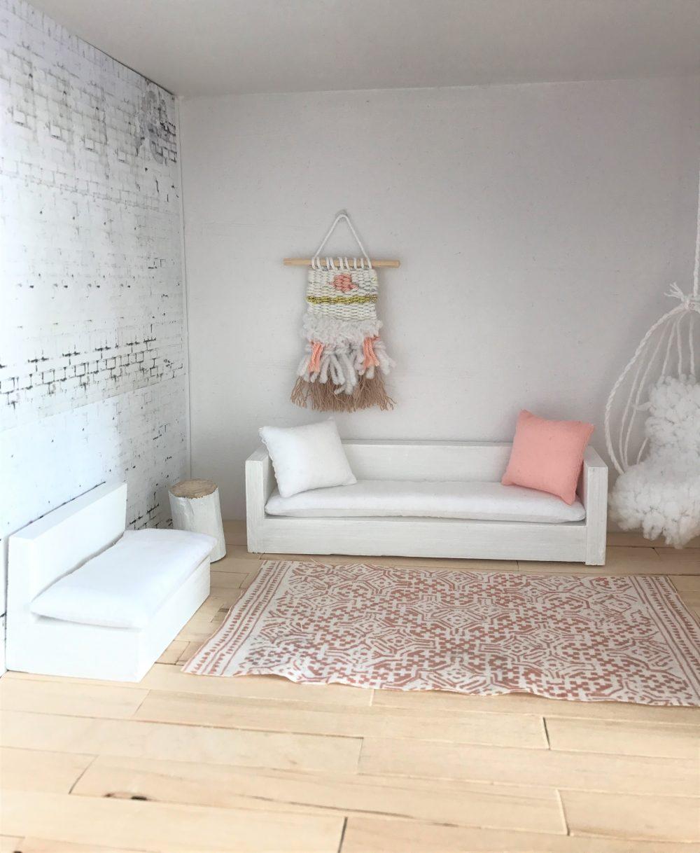 Lounge Bank Voor Het Poppenhuis Handgemaakt (let Op