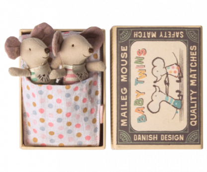 Maileg mouse baby twins in box baby muizen tweeling in luciferdoosje