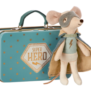 Maileg mouse guardian hero in suitcase muis engel held in koffertje