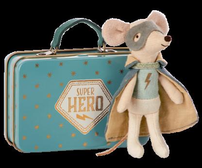 Maileg mouse guardian hero in suitcase muis engel held in koffertje